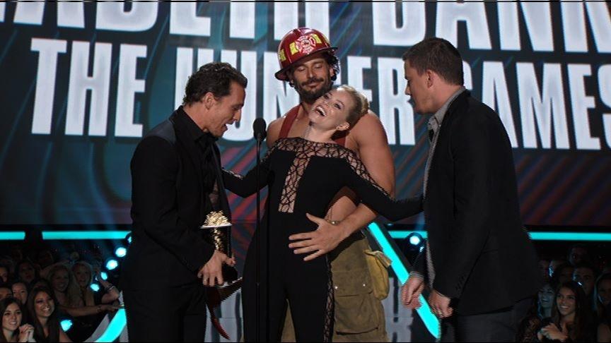 Magic Mike's Matthew McConaughey, Joe Manganiello & Channing Tatum at 2012 MTV Movie Awards