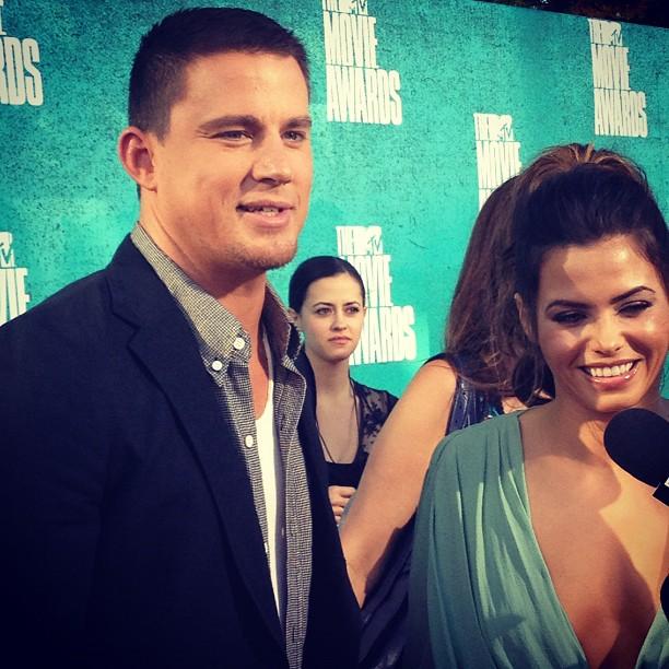 Channing Tatum and Jenna Dewan-Tatum at 2012 MTV Movie Awards