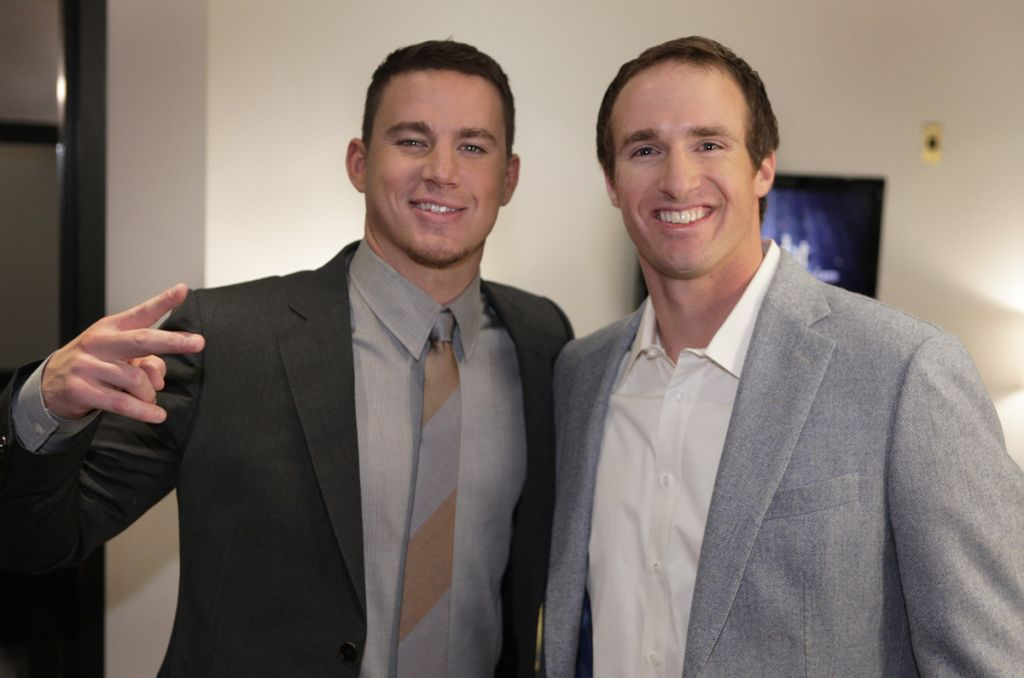 Channing Tatum and Drew Brees on Jay Leno