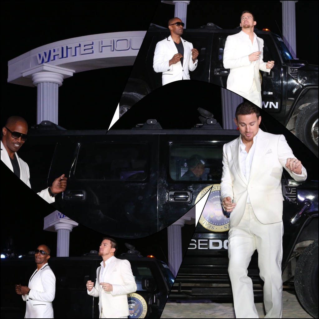 Channing Tatum and Jamie Foxx - White House Down - Cancun Press Junket - Summer of Sony