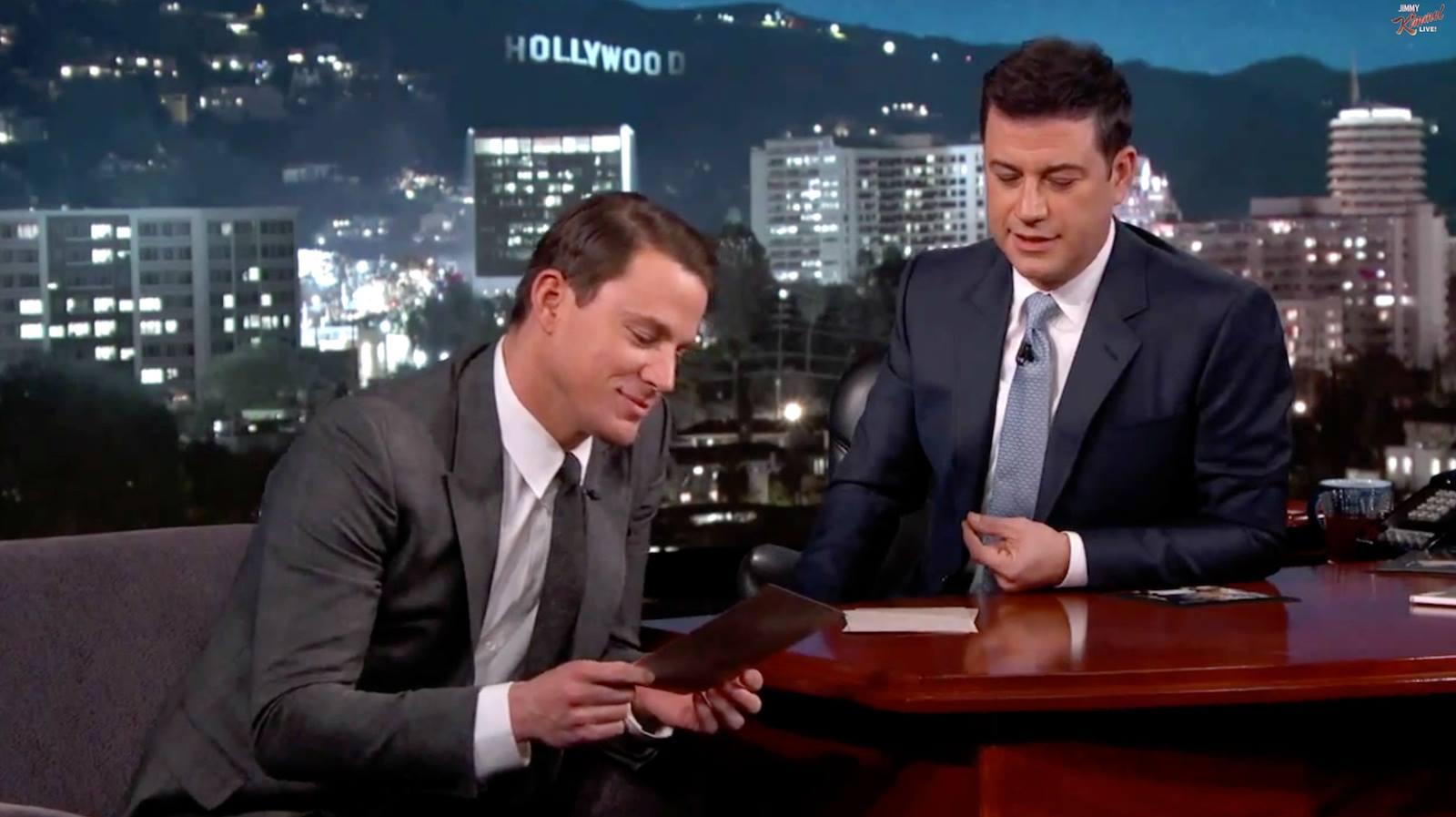 Channing Tatum Jimmy Kimmel Live
